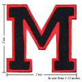 Alphabet M Style-1 Embroidered Sew On Patch
