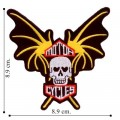 Bat Wing Motorcycle Embroidered Sew On Patch