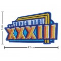 Super Bowl XXXIII 1998 Style-33 Embroidered Iron On/Sew On Patch