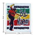 Bob Marley A Reggae Ska Band Style-12 Embroidered Sew On Patch