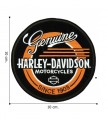 Harley Davidson Motorcycles Genuine Record Embroidered Sew On Patch