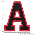 Alphabet A Style-1 Embroidered Sew On Patch