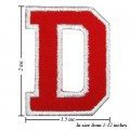 Alphabet D Style-2 Embroidered Sew On Patch