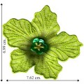 Green Flower Style-2 Embroidered Sew On Patch
