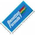 Benetton F1 Racing Style-2 Embroidered Sew On Patch