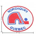 Quebec Nordiques The Past Style-1 Embroidered Sew On Patch