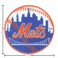 New York Mets Style-1 Embroidered Iron On/Sew On Patch