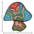 Colorful Magic Mushroom Sign Style-3 Embroidered Sew On Patch