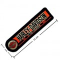 Harley Davidson Machinist Patches Embroidered Sew On Patch