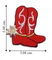 Cowgirl Boot Style-2 Embroidered Sew On Patch