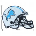 Detroit Lions Helmet Style-1 Embroidered Iron On/Sew On Patch