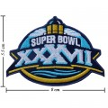 Super Bowl XXXVII 2002 Style-37 Embroidered Iron On/Sew On Patch
