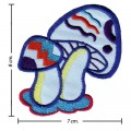 Colorful Magic Mushroom Sign Style-8 Embroidered Sew On Patch