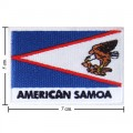 American Samoa Nation Flag Style-2 Embroidered Sew On Patch