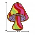 Colorful Magic Mushroom Sign Style-5 Embroidered Sew On Patch
