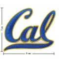California Golden Bears Style-1 Embroidered Iron On/Sew On Patch