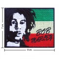 Bob Marley A Reggae Ska Band Style-14 Embroidered Sew On Patch