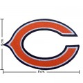 Chicago Bears Style-1 Embroidered Iron On/Sew On Patch