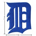Detroit Tigers Primary Style-1 Embroidered Iron On/Sew On Patch