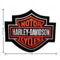 Harley Davidson Bar & Shield Orange Patches Embroidered Sew On Patch
