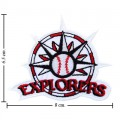 Daytona Beach Explorers Style-1 Embroidered Sew On Patch