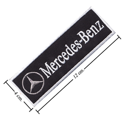Mercedes benz style 1 embroidered sew on patch for Mercedes benz iron