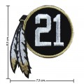 Washington Redskins 21st Seasons Embroidered Sew On Patch