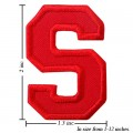 Alphabet S Style-3 Embroidered Sew On Patch