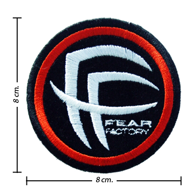 Fear Factory Iron-On Embroidered Patch