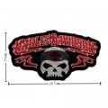 Harley Davidson Skull Patches Embroidered Sew On Patch
