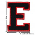 Alphabet E Style-1 Embroidered Sew On Patch