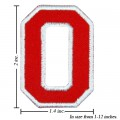 Alphabet O Style-2 Embroidered Sew On Patch