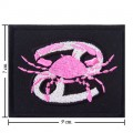 Roman Zodiac Cancer Embroidered Sew On Patch
