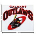 Calgary Outlaws Style-1 Embroidered Iron On/Sew On Patch
