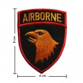 Yellow Airborne Army Embroidered Sew On Patch