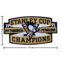 Pittsburgh Penguins Style-4 Embroidered Sew On Patch