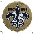 New Orleans Saints 25 Anniversary Embroidered Iron On/Sew On Patch