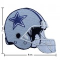 Dallas Cowboys Helmet Style-1 Embroidered Iron On/Sew On Patch