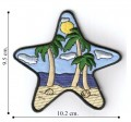 Large Starfish with Scenery Embroidered Sew On Patch