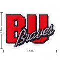 Bradley Braves Style-1 Embroidered Iron On/Sew On Patch