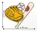 Baseball Gear Embroidered Sew On Patch