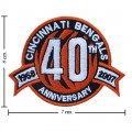 Cincinnati Bengals Anniversary Style-1 Embroidered Sew On Patch
