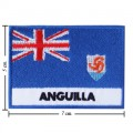 Anguilla Nation Flag Style-2 Embroidered Sew On Patch