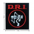 D.R.I Music Band Style-1 Embroidered Sew On Patch