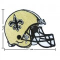 New Orleans Saints Helmet Style-1 Embroidered Iron On/Sew On Patch