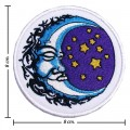 The Moon Night Stars Style-1 Embroidered Sew On Patch