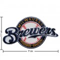 Milwaukee Brewers Style-1 Embroidered Sew On Patch