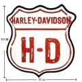 Harley Davidson Reflective H-D Road Sign Patch Embroidered Sew On Patch
