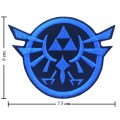 Zelda Triforce Game Style-1 Embroidered Sew On Patch