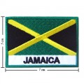 Jamaica Nation Flag Style-2 Embroidered Sew On Patch